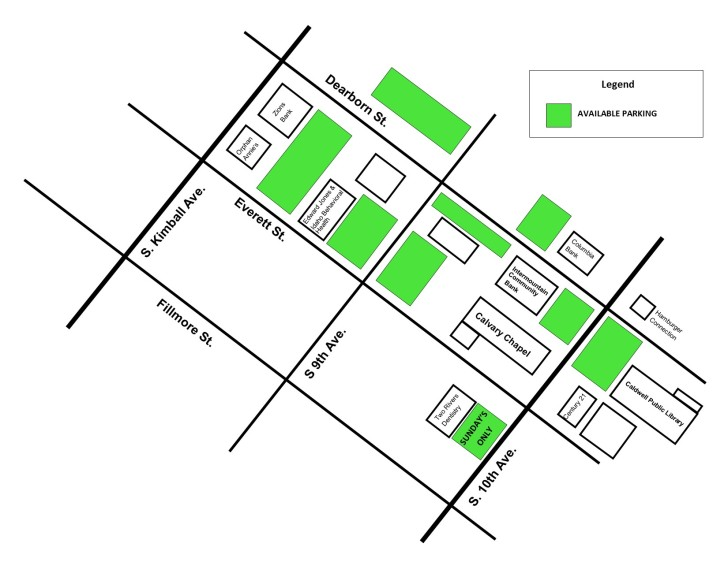 Church Parking Map with Green Parking Lots.jpg