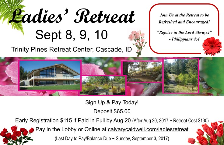 2017 ladies retreat poster