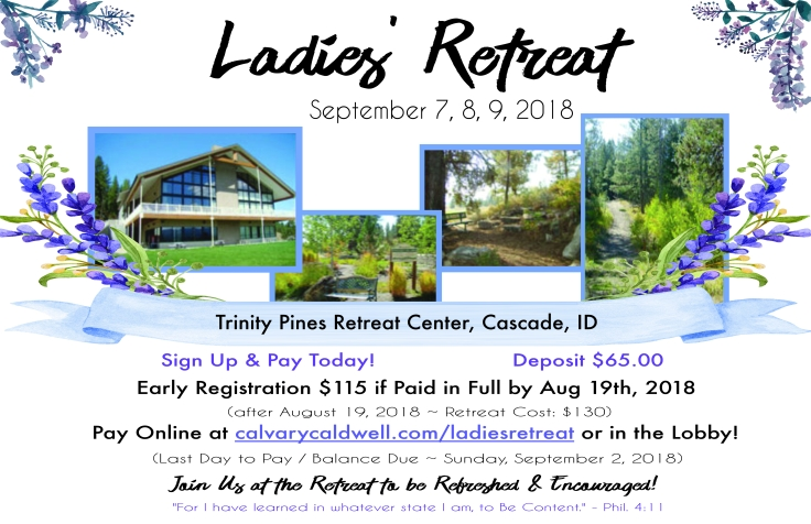 Ladies Retreat Fall 2018 Poster 11x17